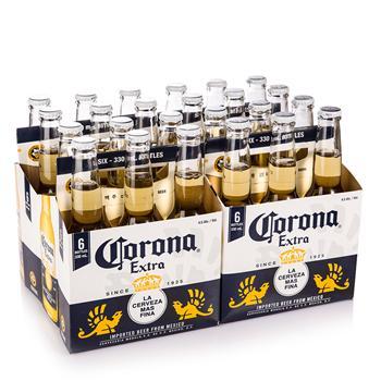 科罗娜CORONA EXTRA 特级啤酒小瓶 330ml/瓶*6*3 墨西哥原装进口啤酒