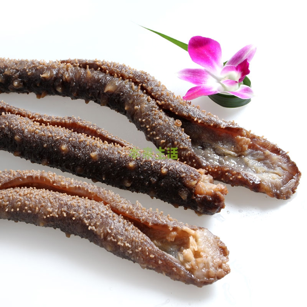 v海参阿拉斯加野生海参(即食熟制去筋)500g5-8食品乐陶陶图片